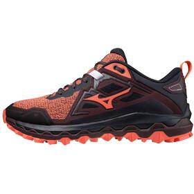 Mizuno Wave Mujin 8 Shoes Women living coral/obsidian/fudge